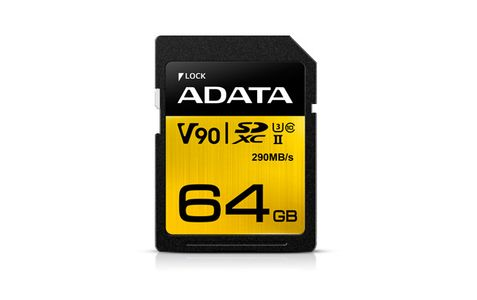 A-DATA 64GB UHS-II-U3,  SD 4.0 (ASDX64GUII3CL10-C)