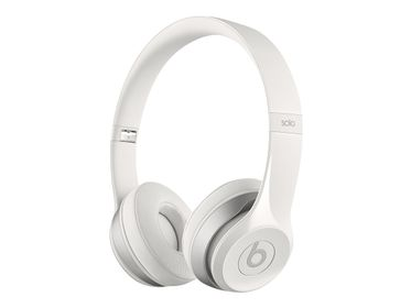 BEATS SOLO2 ON-EAR HEADPHONES GLOSS WHITE                      IN CONS