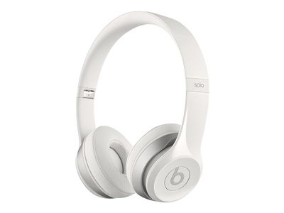 APPLE BEATS SOLO2 ON-EAR HEADPHONES GLOSS WHITE                      IN CONS (MH8X2ZM/B)