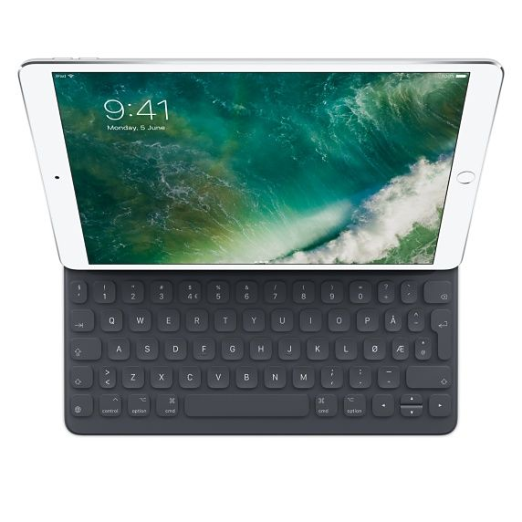 Apple Smart - Tastatur og folioveske - Apple Smart connector - Norsk - for 10.5-inch iPad Pro (MPTL2H/A)