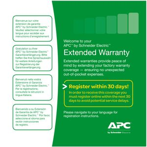 APC EXTENDED WARRANTY 1YR STOCKABLE PART NUMBER (WBEXTWAR3YR-SP-01)