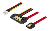 DELOCK Cable SATA 6 Gb/s 7 pin receptacle + Floppy 4 pin power male >