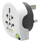 Q2Power Travel Adapter Grounded 10A World - UK White