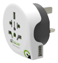 Q2Power Rejseadapter Verden-til-UK USB Jordet