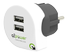 Q2Power dual USB charger, 2.4A (shared), for EU,2xUSB port, white/ black