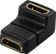 DELOCK HDMI-adapter,  19-pin hona till hona, vinklad