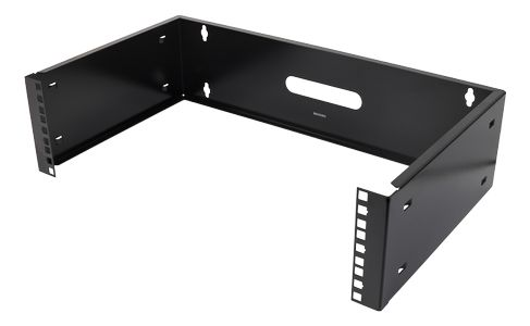 "DELTACO 19"" wall mount, 3U, max 25kg, steel construction,  black (19-WMB3)"