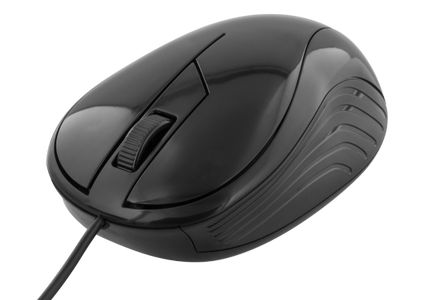 DELTACO wired optical mouse, 3 buttons with a scroll, 1200 DPI, black (MS-463)