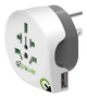 Q2Power Rejseadapter Verden--USA USB Jordet