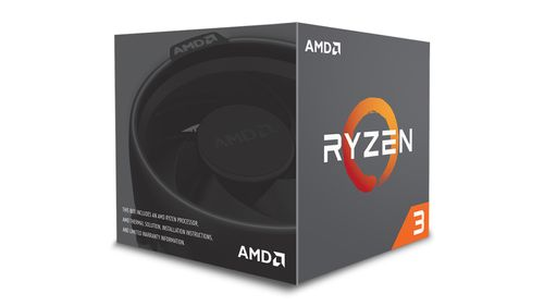 AMD RYZEN 3 1200 3.4GHZ 4 CORE 65W SKT AM4 10MB WRAITH SPIRE PIB    IN CHIP (YD1200BBAEBOX)