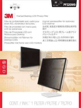 3M PF320W FRAMED PRIVACY FILTER 20-20.1IN / 50.8-51.1CM/  16:9/10 ACCS (98-0440-5246-6)
