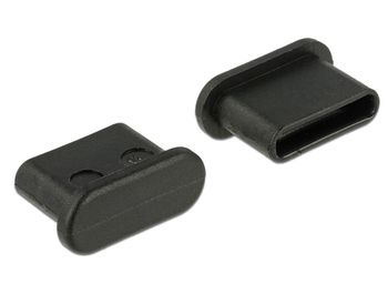 DELOCK Dust Cover for USB Type-C™ female without grip 10pcs, Black (64014)