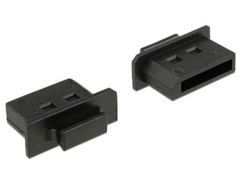 DELOCK Dust Cover for DisplayPort female with grip 10 pieces black (64025)