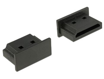 DELOCK Dust Cover for HDMI micro-D female with grip 10 pieces black (64031)
