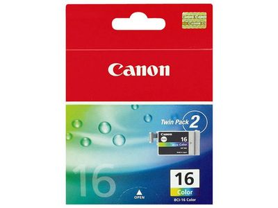 CANON BCI-16C ink cartridge colour standard capacity 7.5ml 199 pages 2-pack (9818A002)