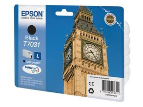 EPSON cartridge L black for WP 4000/4500 1200 pages WP-4015 DN, WP-4025 DW, WP-4515 DN, WP-4525 DNF, WP-4545 DTWF (C13T70314010)