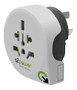 Q2Power earthed travel adapter, world to Australia,  10A, white