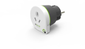 Q2Power earthed travel adapter, Australia to EU, 16A, white