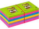 Notes POST-IT SuperSticky Rainbow76x76mm / POST-IT (885319*12)