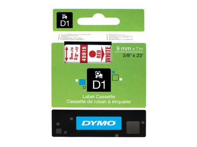 DYMO Tape D1 9mmx7m red/white (S0720700*5)