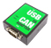 DELTACO USB to CAN Adapter, metal case, DIN Rail