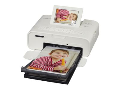 CANON SELPHY CP1300 white Photo printer Display 8.1cm 3.2inch Wi-Fi Printing Airprint Memory Card Slots USB (2235C002)