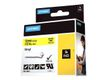 DYMO BAND ID1 VINYL 12MMX5.5M BLACK ON YELLOW SUPL