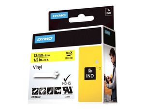 DYMO RHINOPRO 1/2IN YELLOW VINYL TAPE (18432)