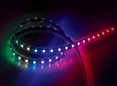 "AKASA ""VegasMBW"" 9pc Magnetic LED Strip light, 50cm RGBW (AK-LD06-50RB)"