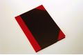 Bünger Büngers Notebook hardback black & red A7