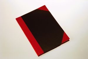 Bünger Büngers Notebook hardback black & red A7 (BJ-02/A7*12)