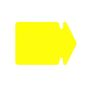 Bünger Arrow small 12x8 270g 20/pack fluorescent yellow