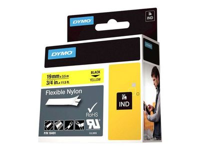 DYMO RHINOPRO 3/4IN YELLOW FLEX NYLON TAPE (18491)