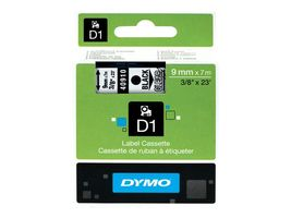 DYMO D1 9mm Black/ Clear labels 40910 (S0720670)