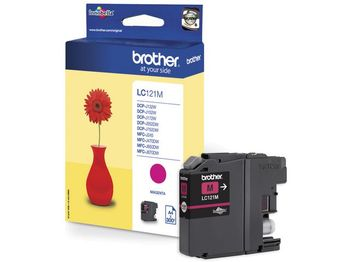 BROTHER Ink Cartridge Magenta 300 pages (LC121M)