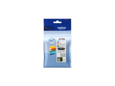 BROTHER LC-3219XL BLISTER COLOR INK SET WITH SECURITY-TAG 4 CARTRIDGES SUPL (LC3219XLVALDR)