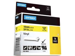 DYMO RHINOPRO 3/4IN YELLOW VINYL TAPE (18433)