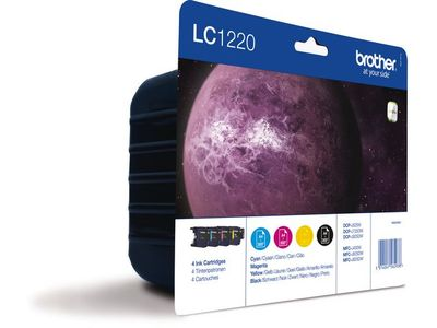 BROTHER LC1220VAL ink cartridge blister value pack (LC1220VALBPDR)