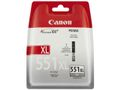 CANON CLI-551XLGY ink cartridge grey high capacity 3.350 pages 1-pack XL