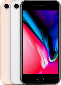 APPLE iPhone 8 64GB - Mobiltelefon - Sølv (MQ6G2QN/A)