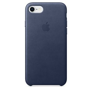 APPLE iPhone 8/7 Leather Case - Midnight Blue (MQH82ZM/A)
