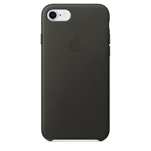 APPLE IP7/8 Leather Case Charcoal Gray (MQHC2ZM/A)