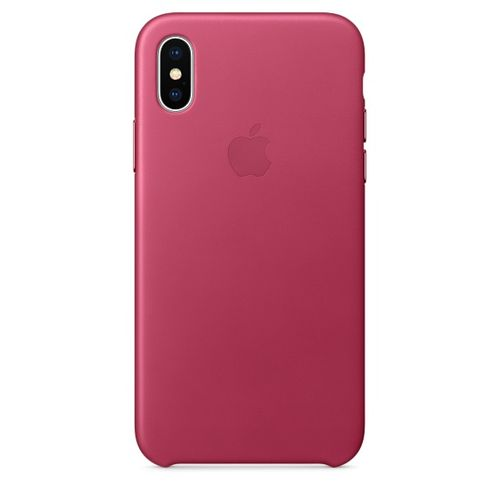 APPLE iPhone X Leather Case - Pink Fuchsia (MQTJ2ZM/A)
