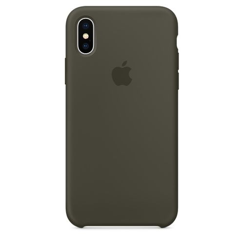 APPLE iPhone X Silicone Case - Dark Olive (MR522ZM/A)