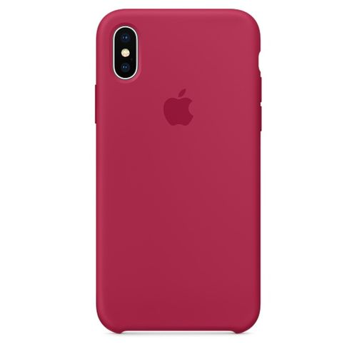 APPLE iPhone X Silicone Case - Rose Red (MQT82ZM/A)
