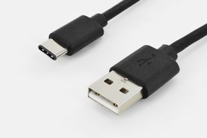 ASSMANN Electronic USB TYPE-C CABLE TYPE C TO A M/M 1.8M HIGH-SPEED UL BL (84311)