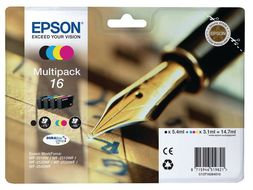 EPSON DURABRITE ULTRA INK MULTIPACK 4-COLOURS 16                     IN SUPL (C13T16264010)