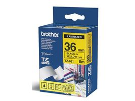BROTHER 36MM Black On Yellow Tape (TZE661)