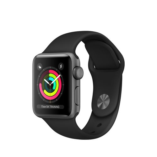 APPLE Watch S3 38mm Space Grey Alu Case Black (MQKV2DH/A)
