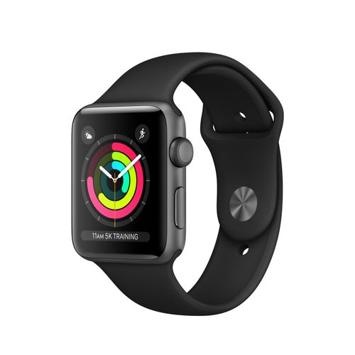 APPLE Watch S3 42mm Space Grey Alu Black (MQL12DH/A)